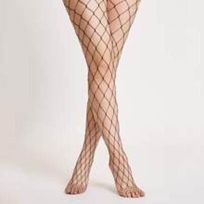 Womens Fishnet Footed  Stockings by Romwe
