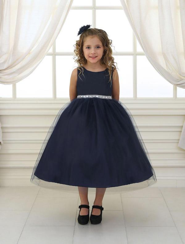 Girls  Sleeveless   Dress With Rhinestones