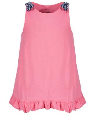 Toddler Tank Swing-Skirt Cotton Tunic With a Bow(s) and Ruffles