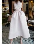 A-line Sleeveless Square Neck Evening Dress/Party Dress/Midi Dress