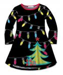 Toddler Long Sleeves Flowy Party Dress